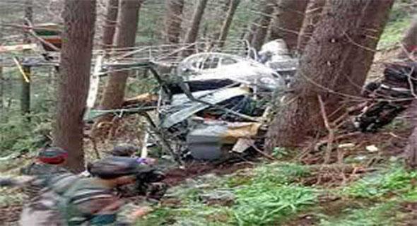ऊधमपुर हेलीकॉप्टर दुर्घटना में गंभीर रूप से घायल दोनों पायलटों की मौत: सेना