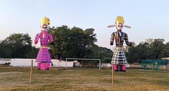आज होगा रावण-कुंभकर्ण के पुतलों का दहन